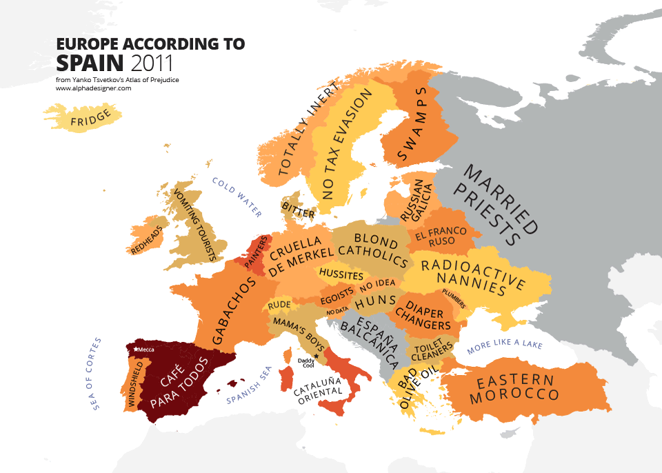 Europe according to Spain stereotyping